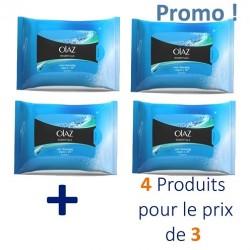 Essentiels - Maxi Pack 80 Lingettes démaquillantes Olaz - 4 au prix de 3 sur Couches Zone