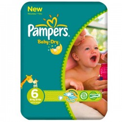 Pack 31 Couches Pampers Baby Dry taille 6 sur Couches Zone