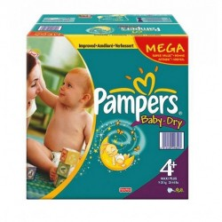 Baby Dry - Maxi Pack 328 Couches de Pampers taille 4+