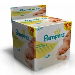 New Baby Sensitive - Pack économique 500 Lingettes Bébés Pampers - 10 Packs de 50 sur Couches Zone