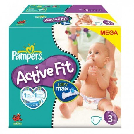 Active Fit - Pack économique 372 Couches Pampers taille 3 sur Couches Zone