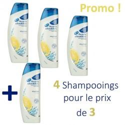 Antipelliculaire Citrus Fresh - Pack 4 Shampooings d'Head & Shoulders - 4 au prix de 3 sur Couches Zone