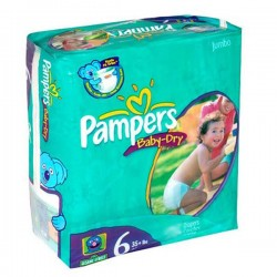 Baby Dry - Pack de 33 Couches Pampers taille 6 sur Couches Zone