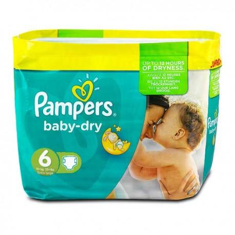 Baby Dry - Pack économique de 198 Couches de Pampers taille 6 sur Couches Zone