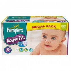 Active Fit - Maxi Pack de 280 Couches Pampers taille 3+