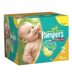 Baby Dry - Pack 252 Couches Pampers taille 2 sur Couches Zone