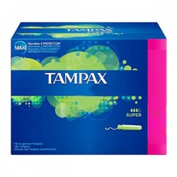 Classique - Pack de 20 Tampons Tampax taille super avec applicateur sur Couches Zone