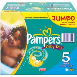Baby Dry - Pack 360 Couches de Pampers taille 5 sur Couches Zone