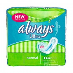 Ultra - Pack 18 Serviettes hygiéniques Always taille Normal sur Couches Zone