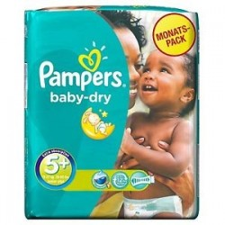 Baby Dry - Pack 43 Couches Pampers taille 5+
