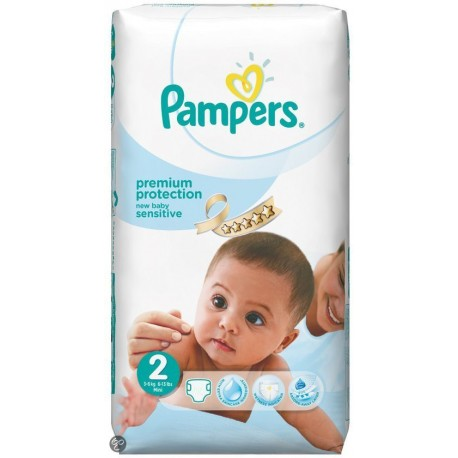 New Baby Sensitive - Pack 60 Couches Pampers taille 2 sur Couches Zone