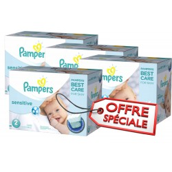 New Baby Sensitive - Maxi Giga Pack Jumeaux de 540 Couches Pampers taille 2