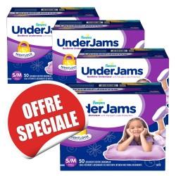 Underjams - Maxi giga pack 315 Sous-vêtements jetables Pampers - pour Filles taille S/M