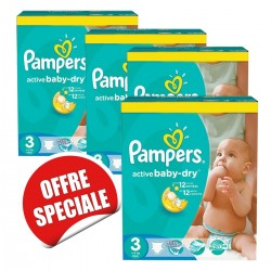 Active Baby Dry - Pack économique de 814 Couches Pampers taille 3