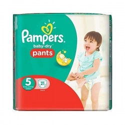 Baby Dry Pants - Pack de 21 Couches Pampers taille 5