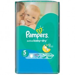 Active Baby Dry - Pack 58 Couches Pampers taille 5 sur Couches Zone