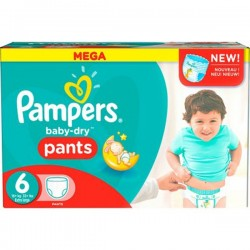 Baby Dry Pants - Gros pack de 190 Couches de Pampers taille 6