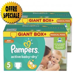 Active Baby Dry - Pack économique 522 Couches Pampers taille 5