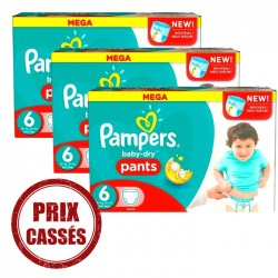 Baby Dry Pants - Maxi Giga Pack 105 Couches Pampers 6