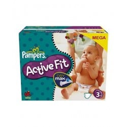 Active Fit - Pack de 120 Couches de Pampers taille 3