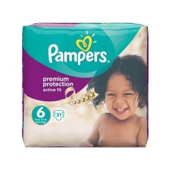 Active Fit - Pack 31 Couches Pampers taille 6