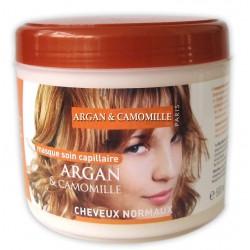 Masque capillaire à l'argan & camomille cheveux normaux sur Couches Zone