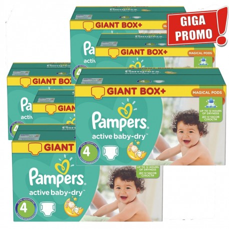 Active Baby Dry - Giga Pack 792 Couches Pampers taille 4 sur Couches Zone