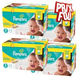 Pack Jumeaux 650 Couches Pampers Premium Protection - New Baby taille 3 sur Couches Zone