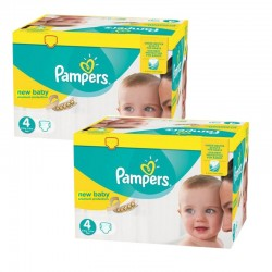 Mega Pack 336 Couches Pampers Premium Protection - New Baby taille 4