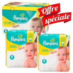 Pack Jumeaux 672 Couches Pampers Premium Protection - New Baby taille 4