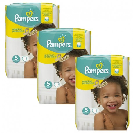 Mega Pack 204 Couches Pampers Premium Protection - New Baby taille 5 sur Couches Zone