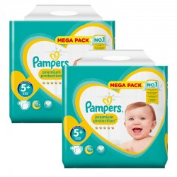 Giga Pack 256 Couches Pampers Premium Protection - New Baby taille 5+ sur Couches Zone