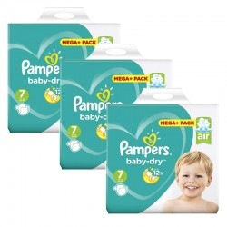 Maxi Mega Pack 140 Couches Pampers Baby Dry taille 7 sur Couches Zone