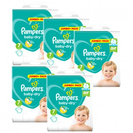 Maxi Giga Pack 168 Couches Pampers Baby Dry taille 7 sur Couches Zone
