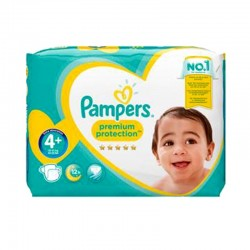 Pack 62 Couches Pampers Premium Protection - New Baby taille 4+ sur Couches Zone