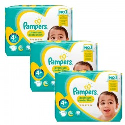 Mega Pack 186 Couches Pampers Premium Protection - New Baby taille 4+ sur Couches Zone