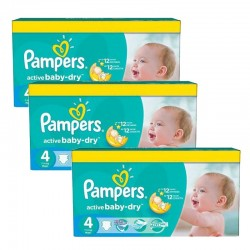 Mega Pack 360 Couches Pampers Active Baby Dry taille 4
