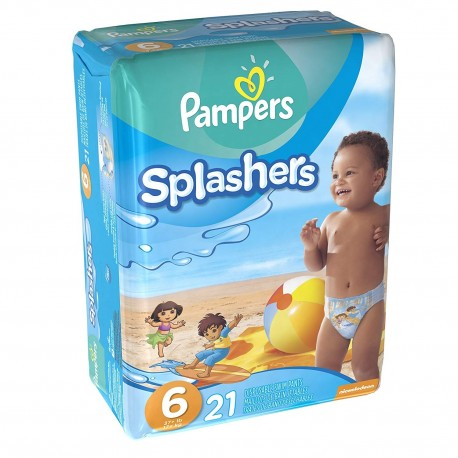 Pack 21 Couches de bains Pampers Swimming Pants Splachers taille 6 sur Couches Zone