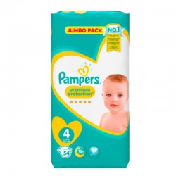 Pack 54 Couches Pampers New Baby - Premium Protection taille 4 sur Couches Zone