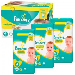 Giga Pack 270 Couches Pampers New Baby - Premium Protection taille 4 sur Couches Zone