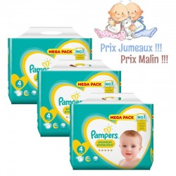 Pack Jumeaux 468 Couches Pampers New Baby - Premium Protection taille 4 sur Couches Zone