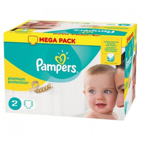 Pack 240 Couches Pampers New Baby - Premium Protection taille 2 sur Couches Zone