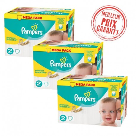 Pack Jumeaux 720 Couches Pampers New Baby - Premium Protection taille 2 sur Couches Zone