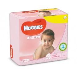 560 Lingettes Bébés Huggies Soft Skin sur Couches Zone