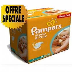 Maxi Pack 432 Couches Pampers Sleep & Play taille 4 sur Couches Zone