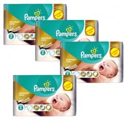 Giga Pack 266 Couches Pampers New Baby - Premium Care taille 2