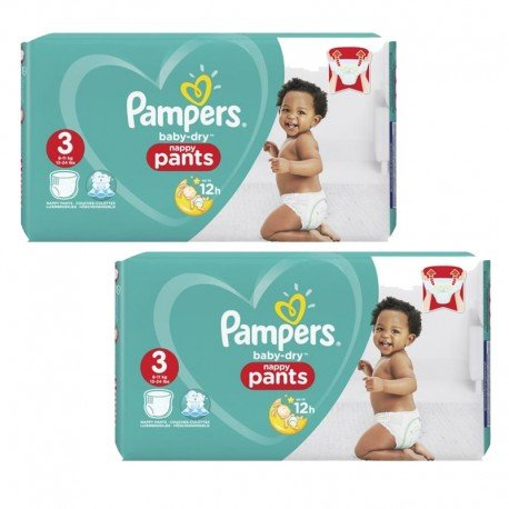Giga Pack 160 Couches Pampers Baby Dry Pants sur Couches Zone
