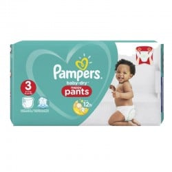 Pack 80 Couches Pampers Baby Dry Pants taille 3