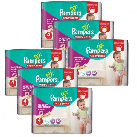 Maxi Giga Pack 224 Couches Pampers Active Fit - Pants taille 4 sur Couches Zone