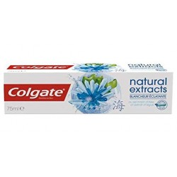 Dentifrice Colgate Natural Extracts Blancheur Eclatante sur Couches Zone